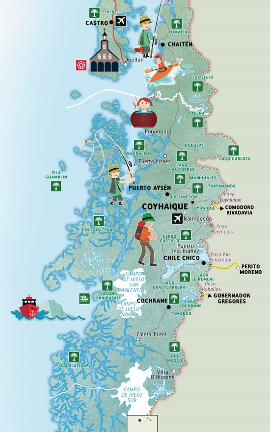 La route Australe Chili