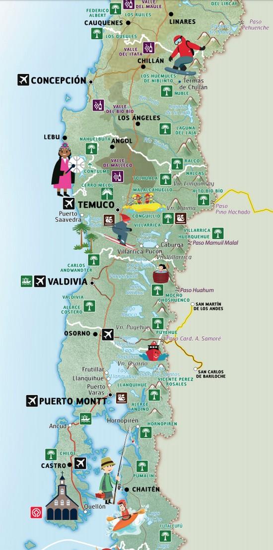Le sud Chili