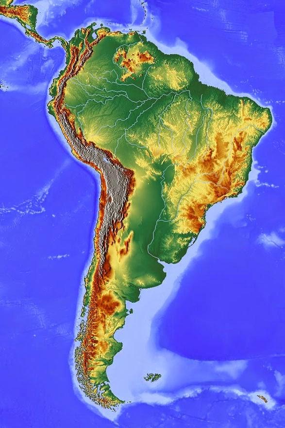 Carte Cordillère des Andes
