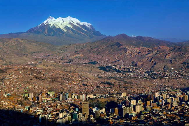 Montagne Illimani Bolivie