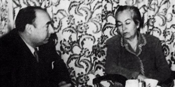 Gabriela Mistral et Pablo Neruda