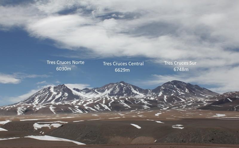 Montagne Nevado 3 Cruces Chili