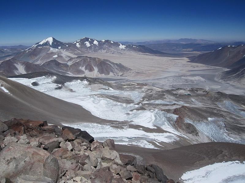 Montagne Ojo del Salado Chili