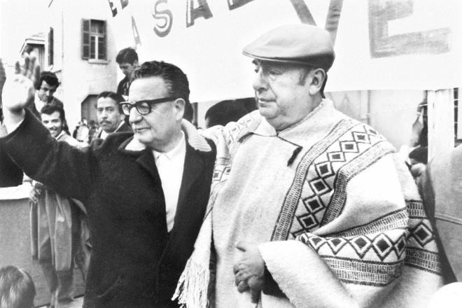 Pablo Neruda et Salvador Allende